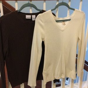 Two sweaters bundle. DKNY and Kim Rogers